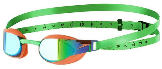 Característica Nathaniel Ward Baño  SPEEDO FASTSKIN ELITE Mirror Goggle Orange Green