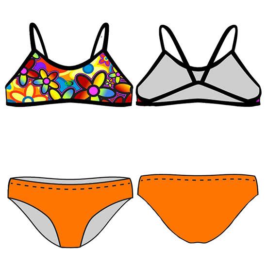 cca11b4322c3 Bikini de entrenamiento DS FLOWER
